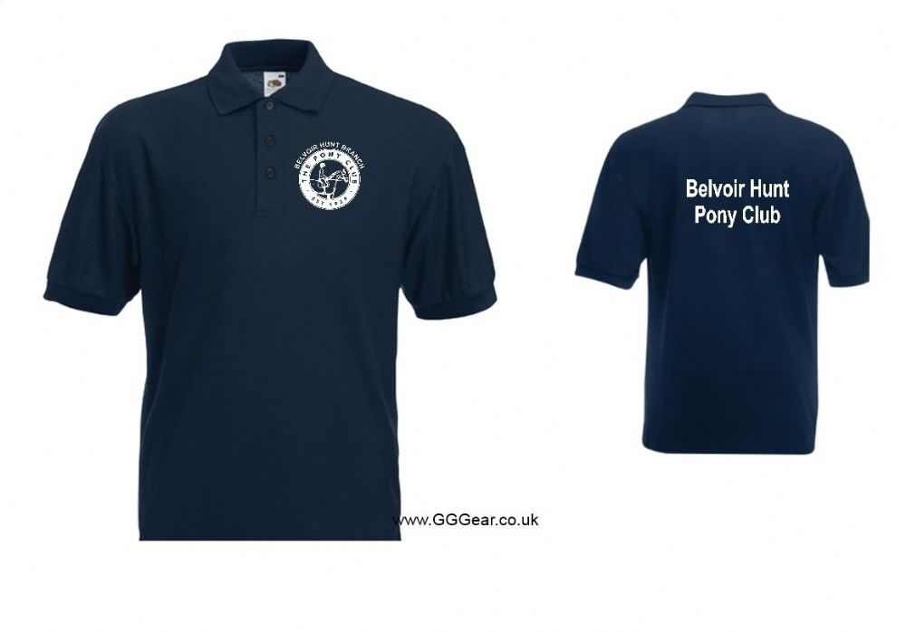 CHILD Belvoir Pony Club Navy  Polo Shirt